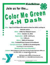 2016 Color Me Green Flyer
