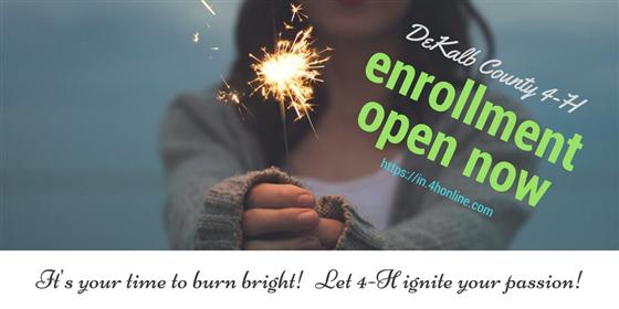 Enroll in 4-H until Jan. 15th at https://in.4honline.com