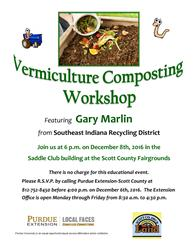 vermiculture workshop flyer