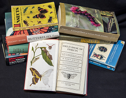photo of several insect guide books