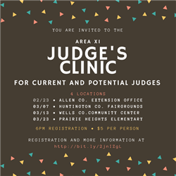 Judge's Clinic Social Media Graphic