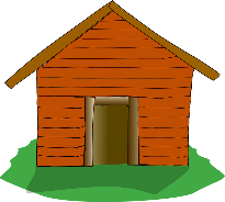 camp cabin clipart