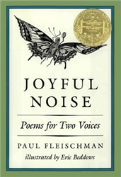 Joyful Noise Poems for Two Voices book cover