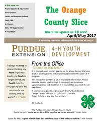4-H April/May Newsletter