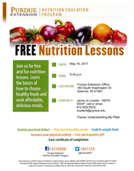 FREE Nutrition Lessons Flyer