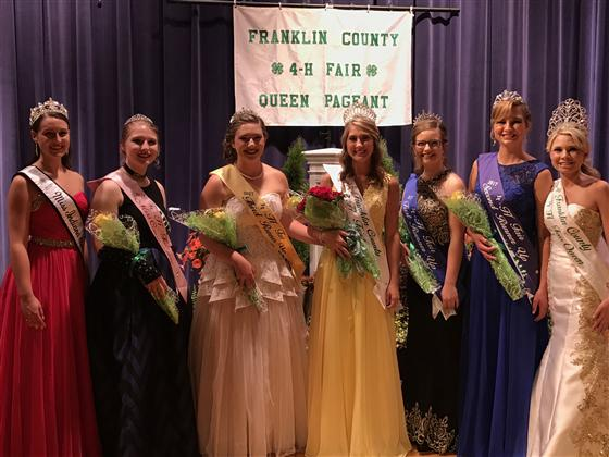 2017 Franklin County 4-H Fair Queen Court