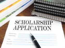 stock image of a blank scholarship application form