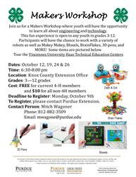 Knox County Makers Workshop Flyer