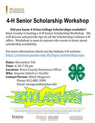 2017 4-H Senior Scholarship Workshop