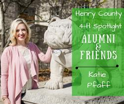 Katie Pfaff on Butler's campus