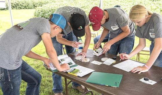 High school students from Indiana, Nebraska and Iowa recently learned about plant disease and other