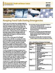 Keeping Food Safe During Emergencies Publication