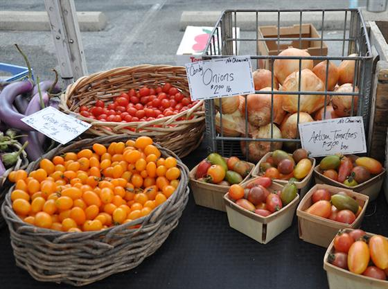 Tomato varieties at Farmer's Market