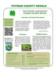 January-February 2018 Herald 4-H Newsletter