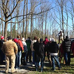 Crowd at FNR property for Forest Management Workshop