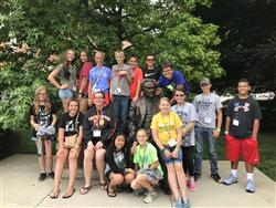 Franklin County 4-H members at Purdue for 2018 4-H Round Up
