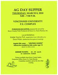 2018 Ag Day Supper Flyer