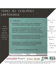 Teens as Teachers Conference