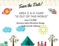 4-H Camp Save the Date 2018