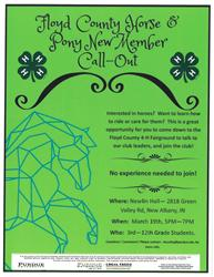 Floyd County 4-H Horse & Pony Call-Out