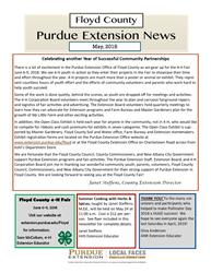 May 2018 Extension News
