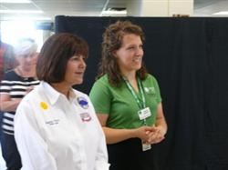 First Lady of Indiana Visiting 4-H Exhibits at Indiana State Fair