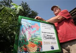 Patrick Lantz, a Purdue Master Gardener from Allen County, designed and maintained a demonstration g