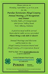 Extension Annual Meeting & 4-H Recognition Dinner