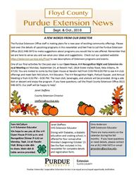 Sept-Oct 2018 Extension News