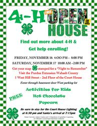 Join us for our 4-H OPEN HOUSE!!!