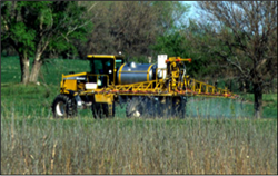 Picture of a sprayer on crops