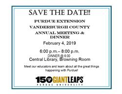 Save the Date Extension Board Vanderburgh County
