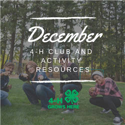 Picture states December Club Resources with kids in background