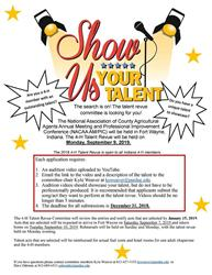 4-H Talent Revue Flyer