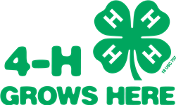 4-H Grows Here logo, includes the green 4-H clover and text