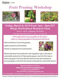 2019 Fruit Pruning Workshop