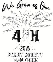 2019 Perry County 4-H Handbook Cover