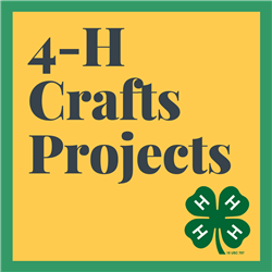 4-H Crafts Project with Clover