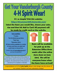 Spirit Wear Flier