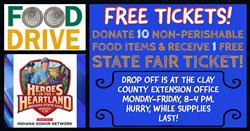 FOOD DRIVE for Indiana State Fair Tickets