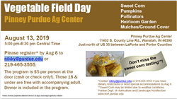 vegetable field day
