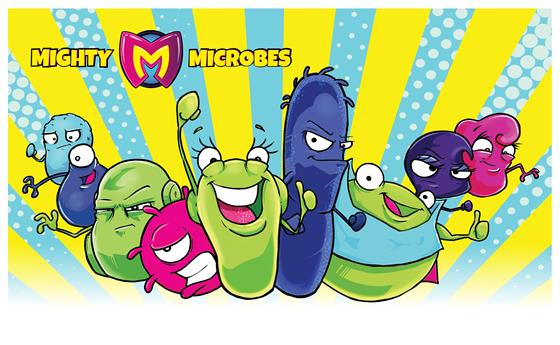 Picture of animated microorganisms.