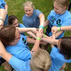 campers in human knot