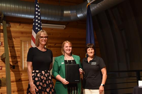 From left are Indiana Lt. Gov. Suzanne Crouch; Madelyn Zimmerman, Purdue Extension Emerging Women in