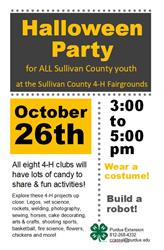 Sullivan County Halloween Party flyer