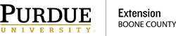 Purdue Extension - Boone County Logo