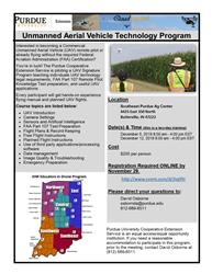 Information about an upcoming Unmanned Aerial Vehicle Technology Program