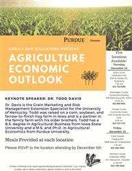 Informational flyer about Ag Outlook for Area 2