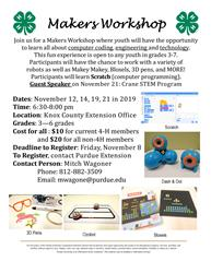 Knox Co Maker's Workshop Flyer
