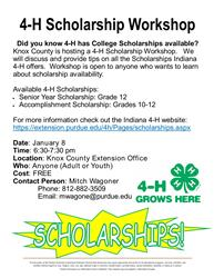 Scholarship Workshop Flyer